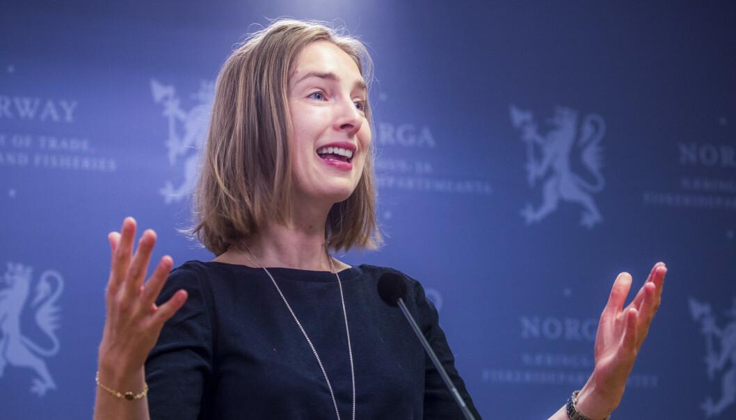 Næringsminister Iselin Nybø (V) mener sammenslåingen vil styrke selskapene. Foto: Terje Pedersen / NTB scanpix