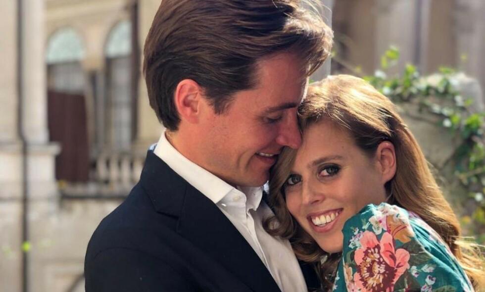 GIFT: Prinsesse Beatrice og Edoardo Mapelli Mozzi skal ha giftet seg i en hemmelig seremoni fredag. Foto: NTB Scanpix