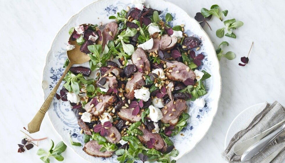 Salat med rødbeter og chèvre. FOTO: Winnie Methmann
