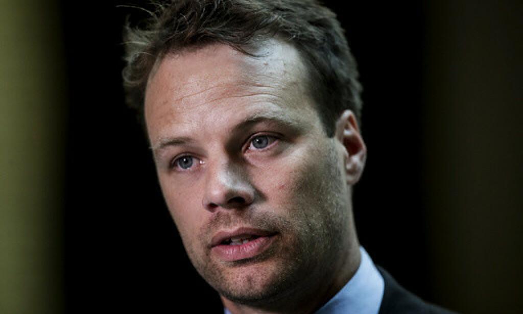 Jon Engen Helgheim (Frp) i Stortinget under debatten om den nye bioteknologiloven. Foto: Vidar Ruud / NTB scanpix