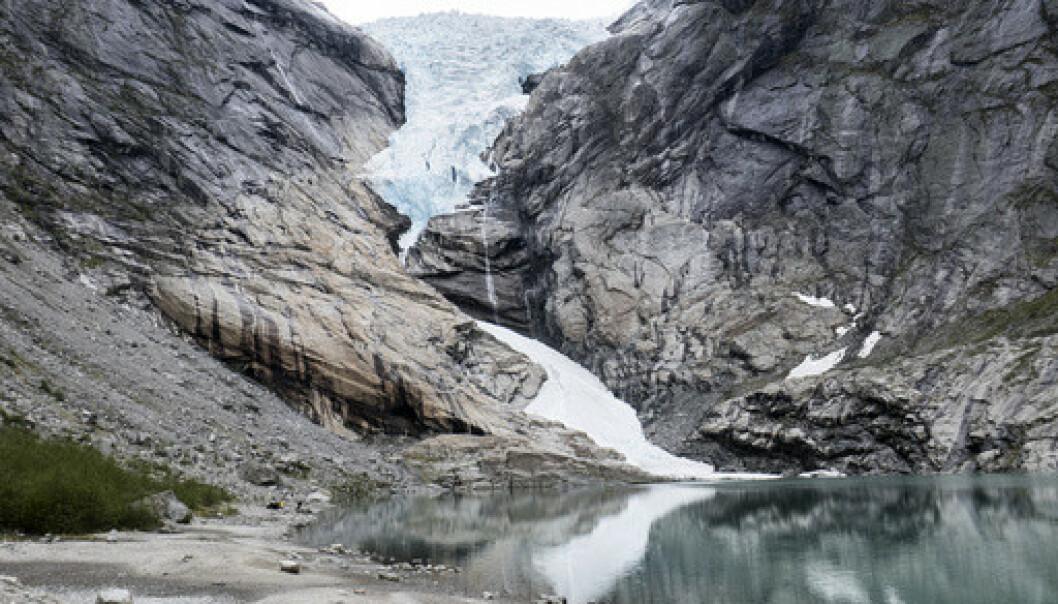 Briksdalsbreen i Stryn kommune i Sogn og Fjordane. Foto: Paul Kleiven / NTB scanpix