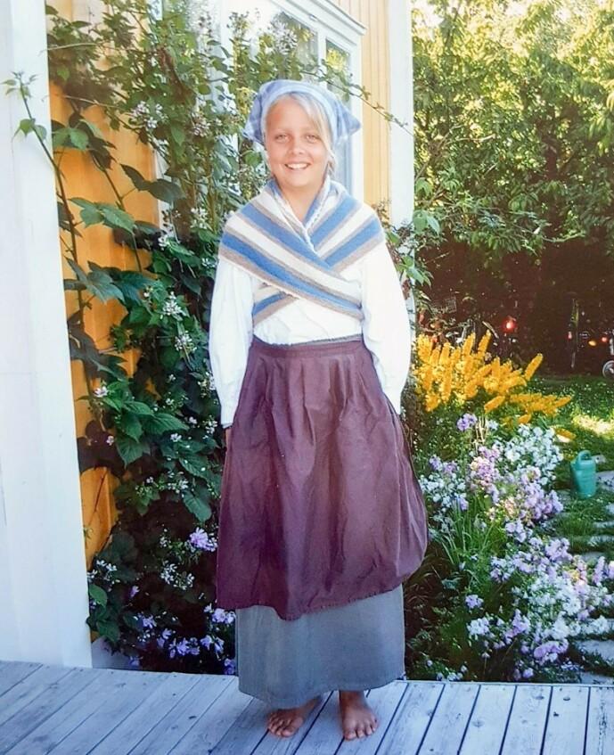 2003: Her er Ida Maria Dahr Nygaard fotografert i 2003, da hun var med som programleder for «Sommermorgen». Foto: Privat