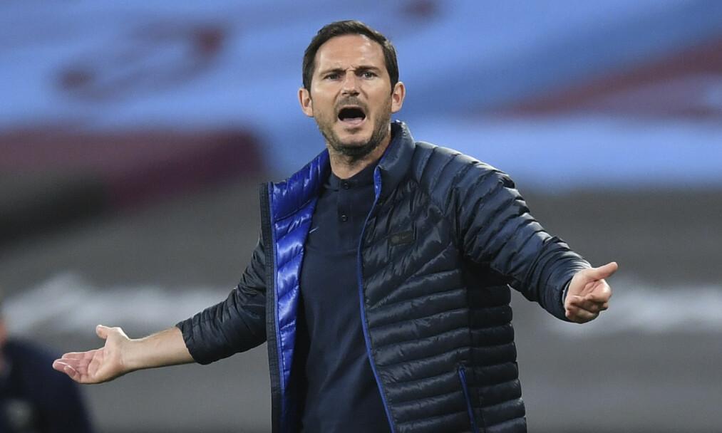 TELLER NED: Frank Lampard og Chelsea og møter Manchester United i FA-cupens semifinale i kveld. Foto: NTB scanpix