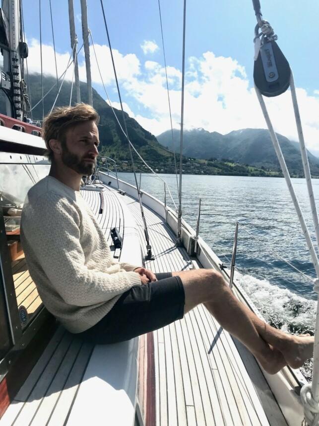 FAMILIEFAR: I dag er David Norback Pedersen gift og har to barn. Foto: Privat