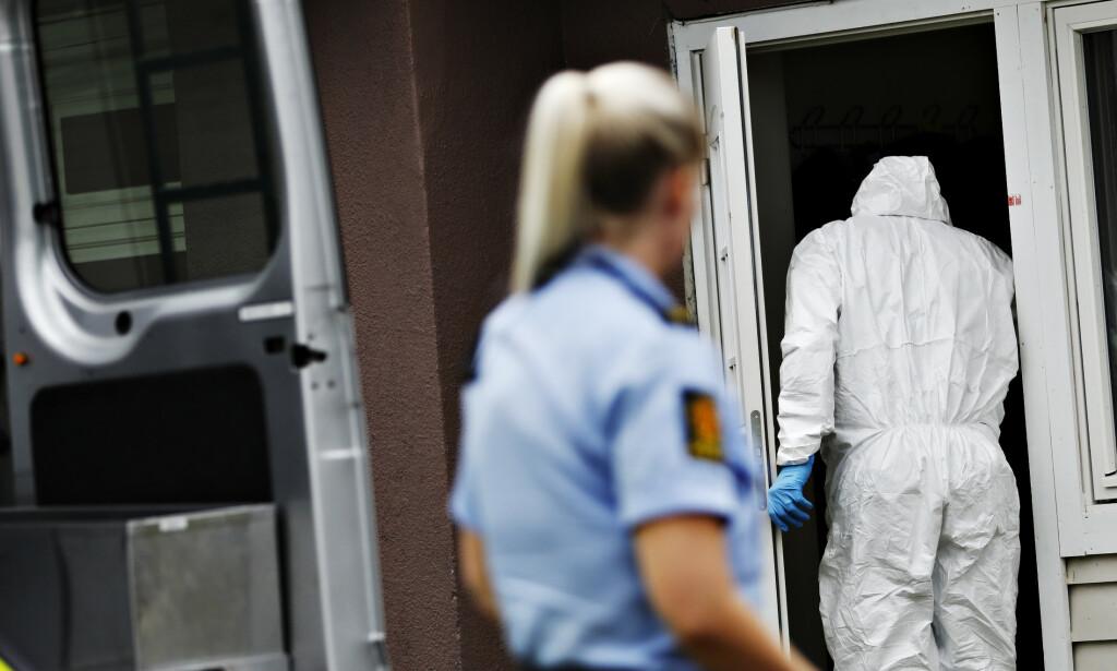 Sarpsborg 20200715 Mann tiltalt for å ha knivdrept en kvinne samt skadet to andre på tre forskjellige adresser i Sarpsborg, seint tirsdag kveld . Foto: Christian Roth Christensen / Dagbladet
