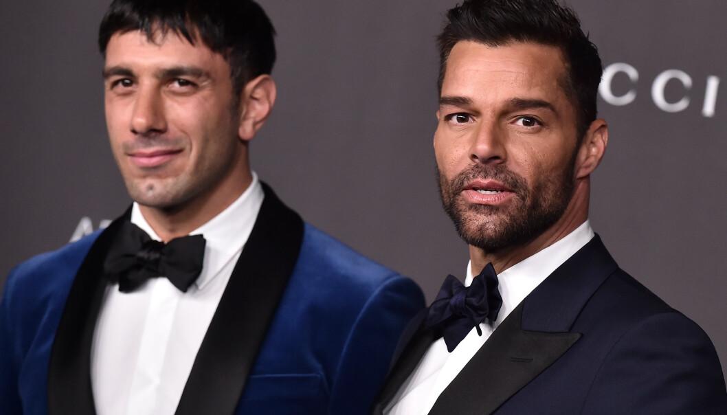 <strong>GIFT:</strong> Ricky Martin er gift med den svensk-syriske kunstneren Jwan Yosef. Sammen har de fire barn. Martin er aktuell med dobbeltutgivelsen «Pausa» og «Play». Foto: NTB Scanpix