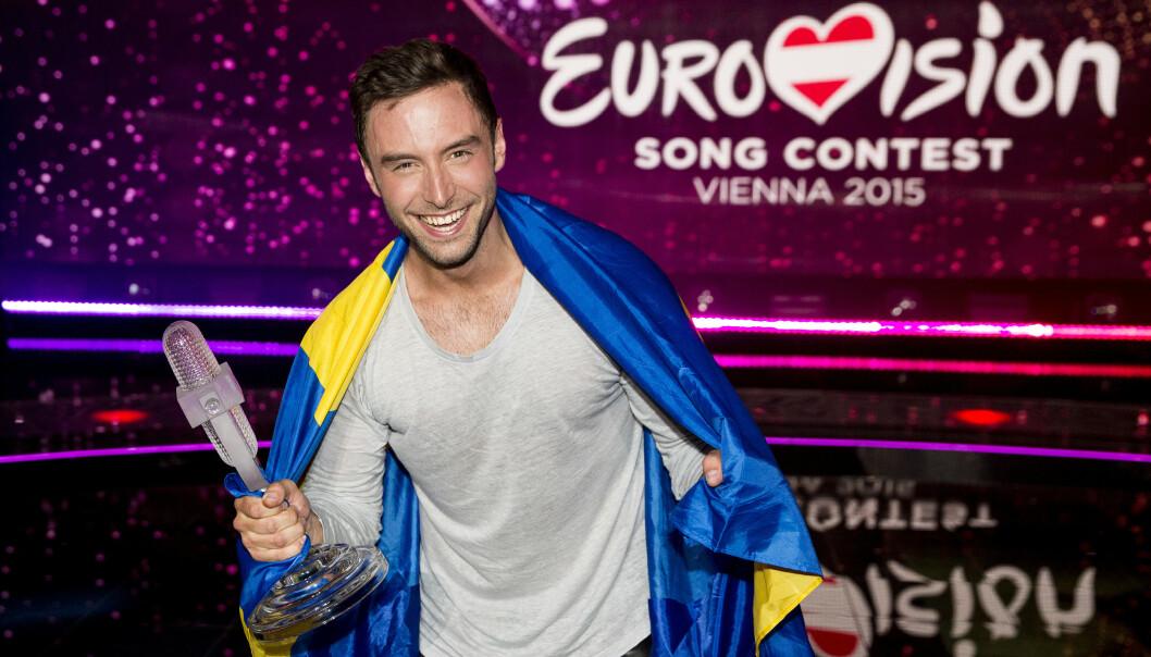 TIL TOPPS: Måns Zelmerlöw stakk av med Eurovision-seieren for Sverige i 2015. Foto: NTB Scanpix
