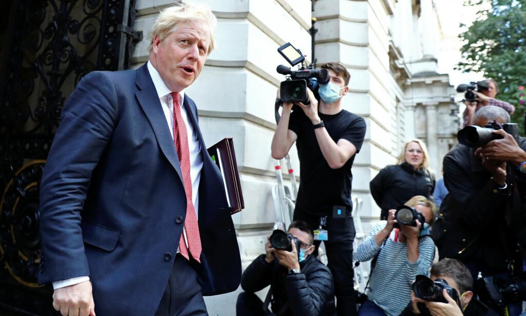 PRESSET: Boris Johnson, Storbrittanias statsminister. Foto: REUTERS / NTB Scanpix