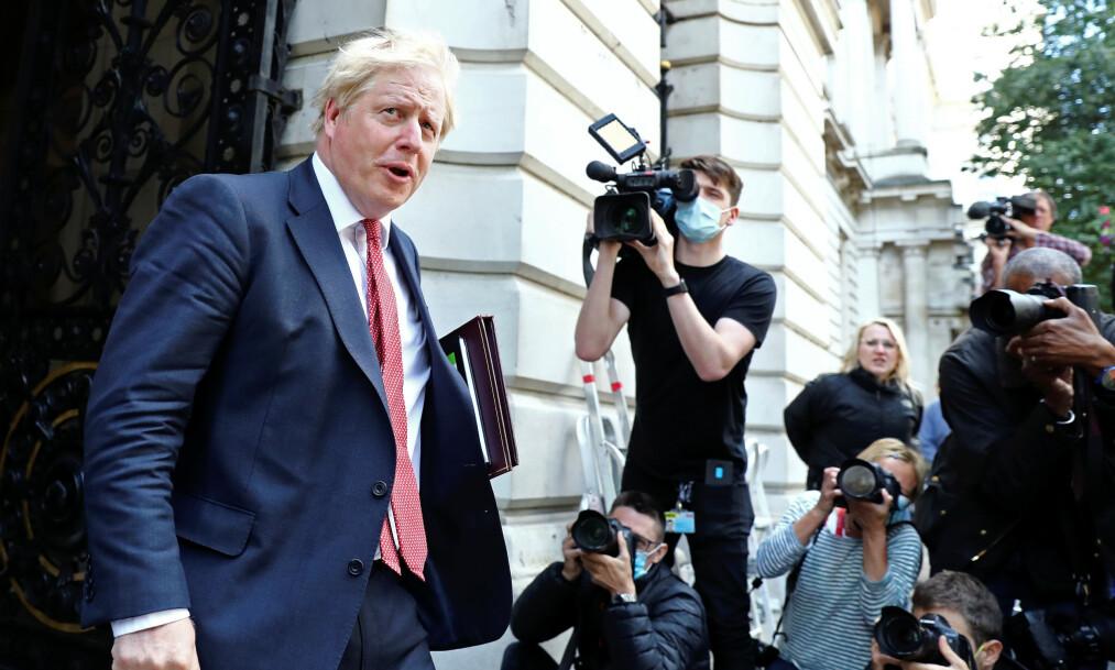 RUSSLAND-INNBLANDING: En britisk rapport konkluderer med at det er vanskelig å bevise at Russland forsøkte å påvirke brexitavstemningen, men at landet anerkjente trusselen for sent. Her statsminister Boris Johnson. Foto: Simon Dawson / Reuters / NTB scanpix
