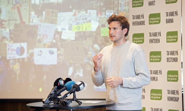 KONTRER: Nasjonal talsperson i Grønn Ungdom Teodor Bruu stiller spørsmål ved hva Hansmark mener er realpolitikk. Foto: Ryan Kelly / NTB scanpix