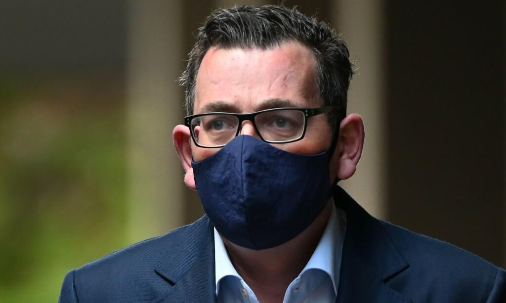 FORTVILER: Delstatsminister i Victoria, Daniel Andrews, fortviler over at et stort antall oppgir at de ikke isolerer seg når de har symptomer på coronaviruset. Foto: William WEST / AFP / NTB scanpix