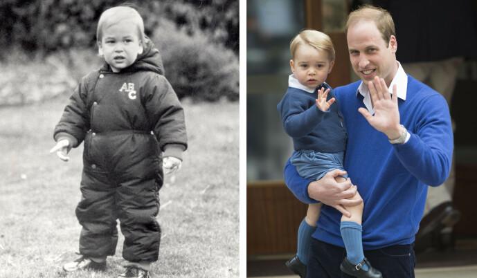 SOM TO DRÅPER VANN: Prins George ligner uten tvil på sin far prins William også. FOTO: NTB scanpix