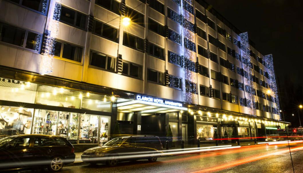 <strong>HOTELL:</strong> Det er dette hotellet i Stockholm Stordalen nå selger. Foto: Strawberry.