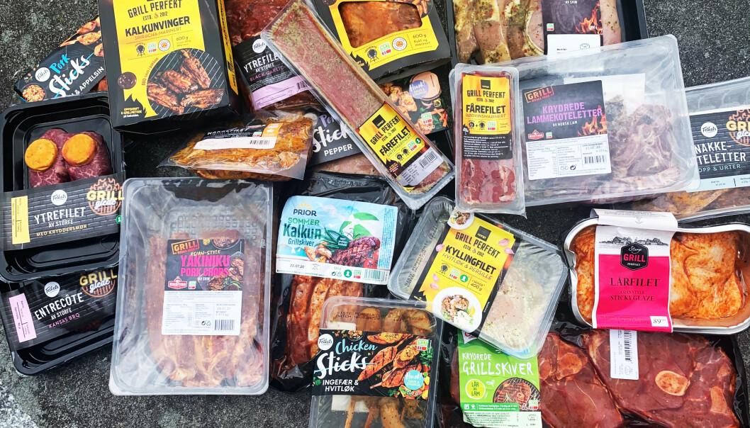 KJØTT PÅ GRILLEN: Det er mye å velge mellom dersom du vil la noen hjelpe deg med å forberede kjøttet. Selve grillingen må du stå for selv.