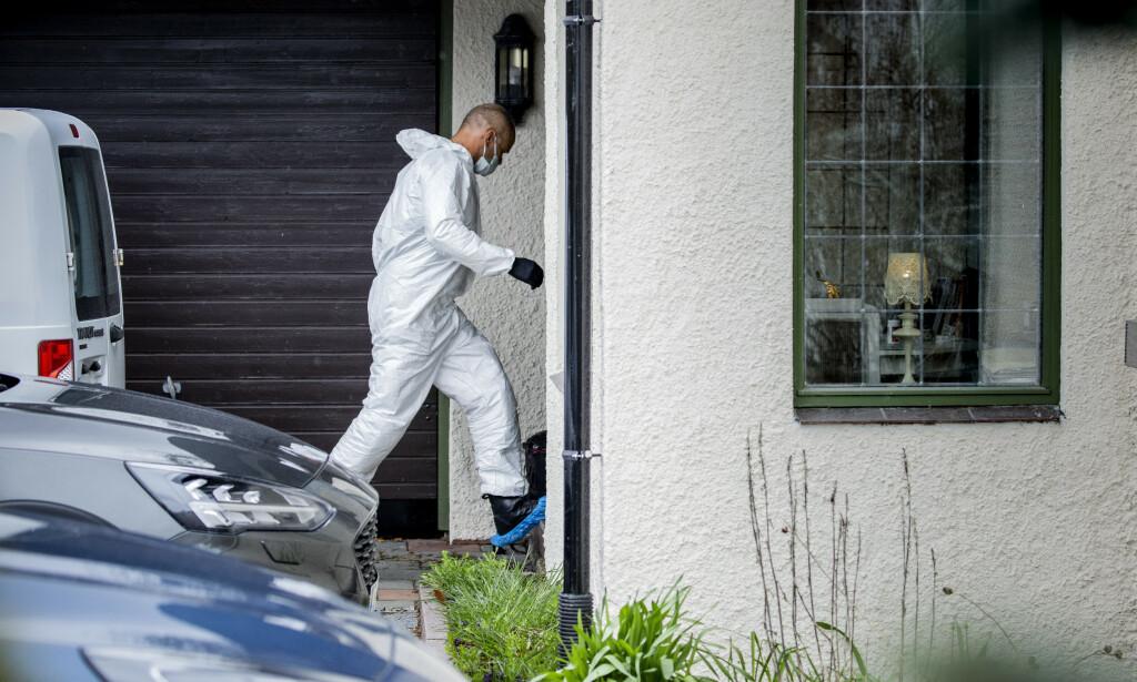 ENDEVENDTE HUSET: Etter at Tom Hagen ble pågrepet i april, inntok politiet på nytt ekteparet Hagens bolig i Sloraveien på Lørenskog. Foto Nina Hansen / Dagbladet