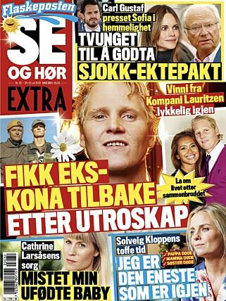 SPONTANABORTERTE: Cathrine Larsåsen åpner opp om tapet av sitt ufødte barn i fredagens utgave av Se og Hør. Faksimile: Se og Hør