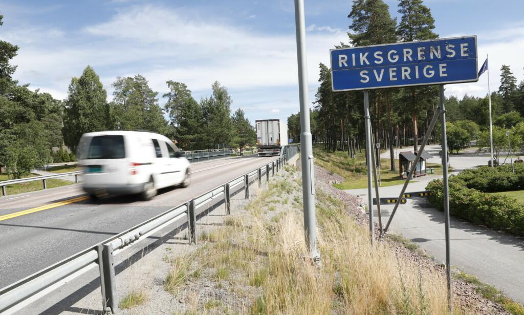 GRENSA: Regjeringen åpnet i dag for ytterligere tre regioner i Sverige. Foto: Christian Roth Christensen / Dagbladet.