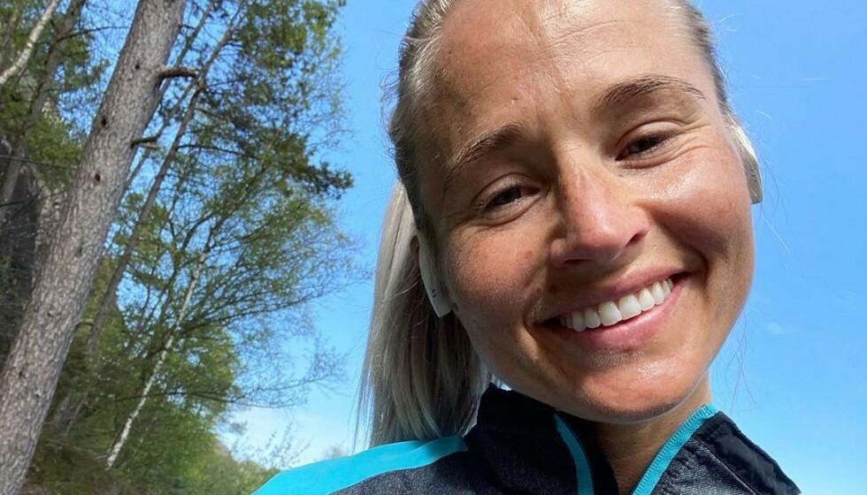 <strong>SVARER:</strong> Inger Houghton får stadig høre at hun har et risikosvangerskap. Nå svarer hun. Foto: Privat
