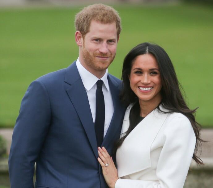DEN GANG DA: Prins Harry og Meghan Markle, som hun het, da de delte den gledelige nyheten om at de hadde forlovet seg. Lite visste trolig paret hva de hadde i vente. Foto: NTB Scanpix