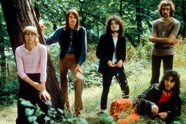 SUKSESS: Medlemmene av Fleetwood MAc, Danny Kirwan, Mick Fleetwood, Jeremy Spencer, John McVie og Peter Green, i 1969. Foto: NTB Scanpix