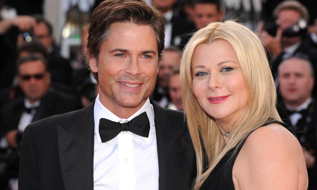 RØPER: Skuespilleren Gwyneth Paltrow forteller at hun lærte seg oralsex av sminkør-venninnen Sheryl Berkoff. Her er sistnevnte avildet sammen med ektemannen Rob Lowe. Foto: NTB Scanpix