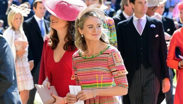 BRYLLUPSGJEST: Bonas var gjest i bryllupet til eksen, prins Harry i 2018. Foto: NTB Scanpix