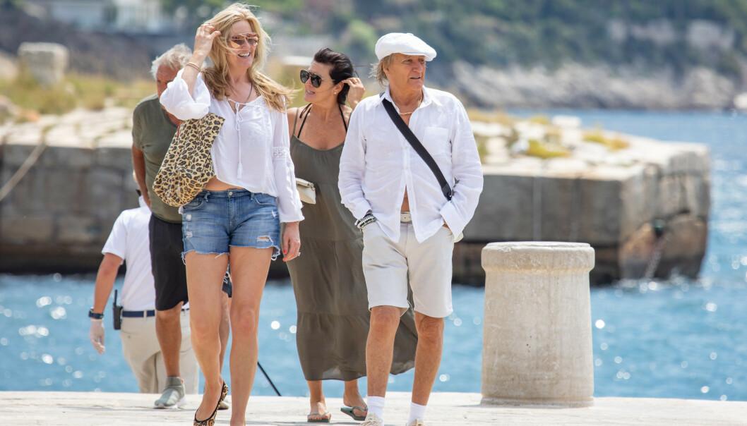 <strong>KROATIA:</strong> Rod Stewart og kona Penny Lancaster i den kroatiske byen Dubrovnik. Foto: NTB Scanpix