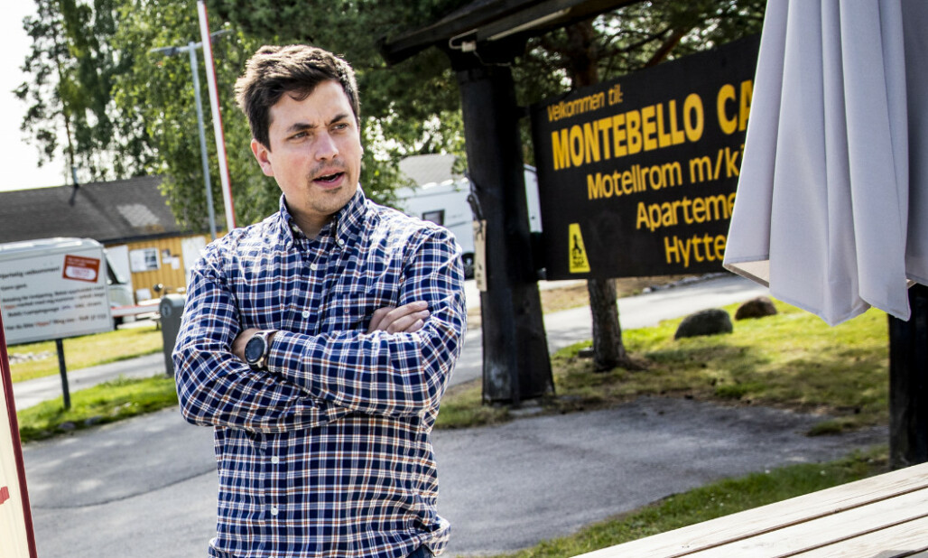 <strong>HARDT SLAG:</strong> TV-profil og driftssjef for Montebello Camping legger ikke skjul på at familiebedriften har blødd penger de siste månedene. Foto: Christian Roth Christensen / Dagbladet