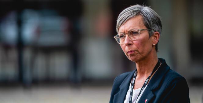 Oslo 20200727.  Ordfører i Moss, Hanne Tollerud, uttaler seg om koronasituasjonen i Moss. Foto: Stian Lysberg Solum / NTB scanpix