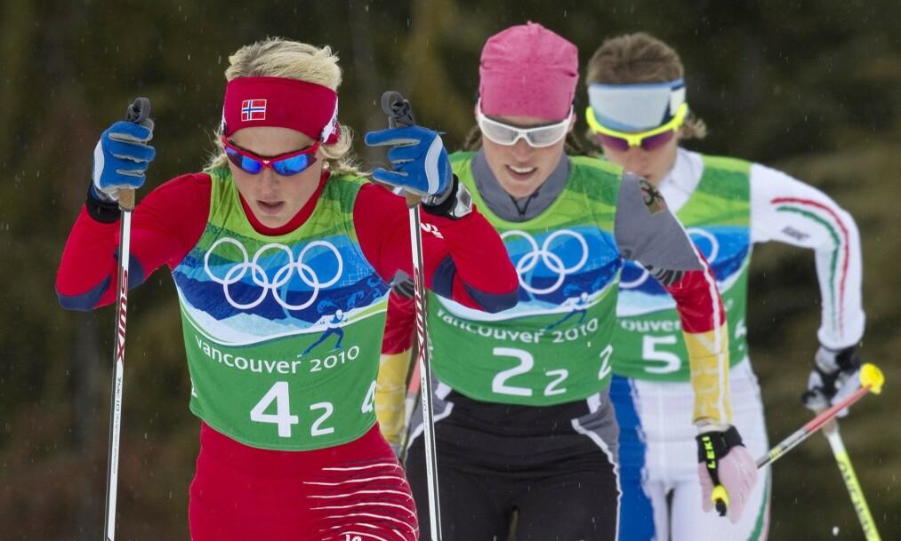 FRYKTET: Evi Sachenbacher-Stehle var lenge en fryktet konkurrent for de norske langrennsjentene, men etter å ha testet positivt for doping i Sotsji-OL forsvant hun fra idrettsverdenen. Foto: Frank Gunn / The Canadian Press