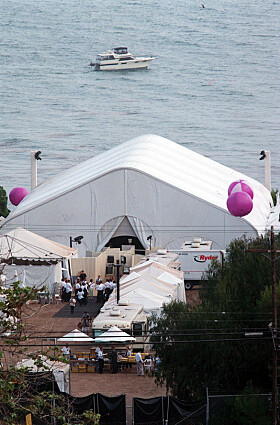 HEMMELIGHOLD: Få bilder fra bryllupet til stjerneparet er blitt delt i pressen. Foto: NTB Scanpix