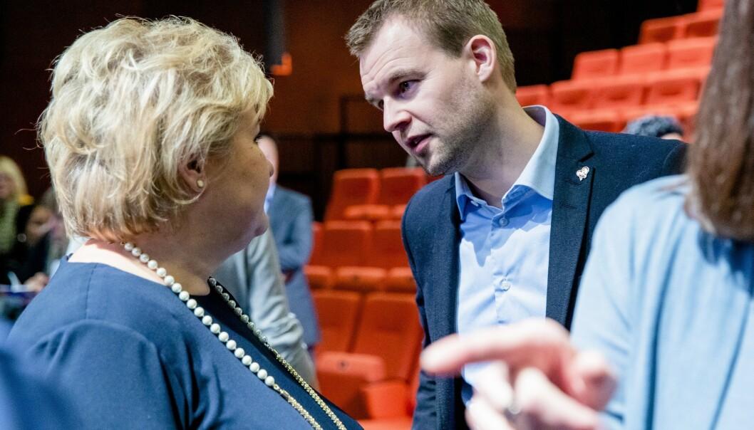 INNGIKK FORLIK: Høyre og KrF inngikk forlik i regjeringen som skulle sikre at barn og familier fra Moria-leiren i Hellas skulle få komme til Norge. Foto: Stian Lysberg Solum / NTB Scanpix