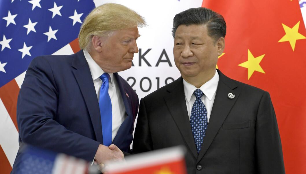 AMPERT: Her er presidentene avbildet i forbindelse med et G-20-møte i Osaka, Japan, i slutten av juni 2019. Foto: AP