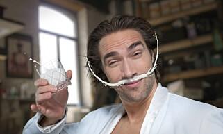 FENOMEN: Hvem som skulle klare å konkurrere med melkebarten til «Mr. Melk» er ikke godt å si. Foto: Tine.