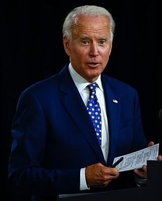 STILLE: Verken Joe Biden eller Kamala Harris har kommentert saken. Foto: ANDREW CABALLERO-REYNOLDS / AFP