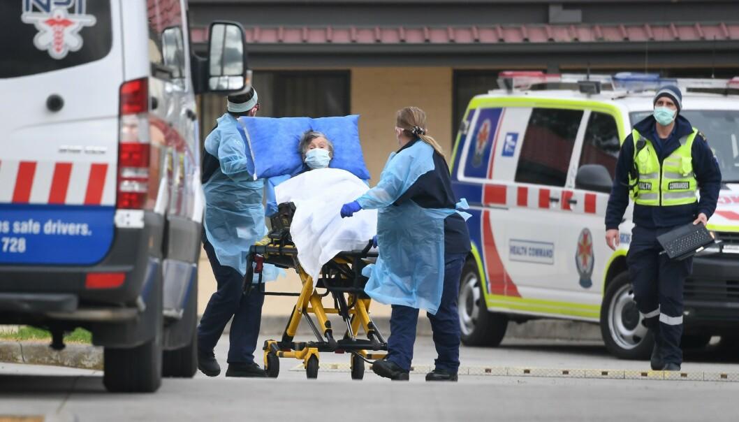 ØKNING: Australia, og særølig delstaten Victoria, har sett en økning i dødsfall på sykehjem den siste tiden. Foto: William WEST / AFP / NTB scanpix