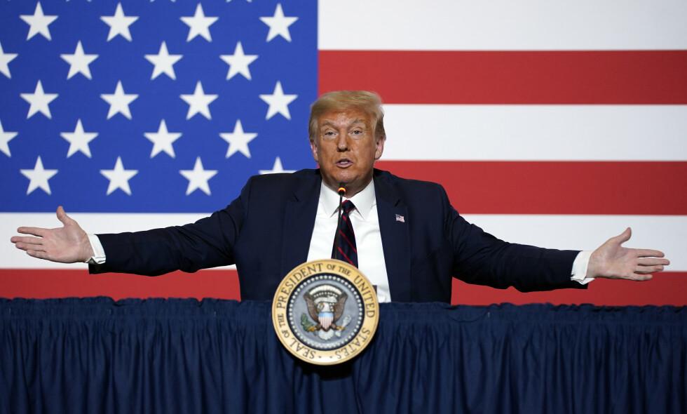 DONALDS ARV: Hvis Donald Trump trekker seg, innhyllet i konspirasjon og selvmedlidenhet, kan det skape en problematisk politisk arv. FOTO: AP/NTB Scanpix