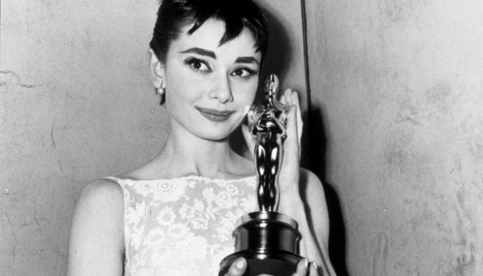<strong>AUDREY HEPBURN:</strong> Skuespilleren er blant de 16 stjernene som har vunnet en Emmy, Grammy, Oscar og Tony. Foto: NTB Scanpix