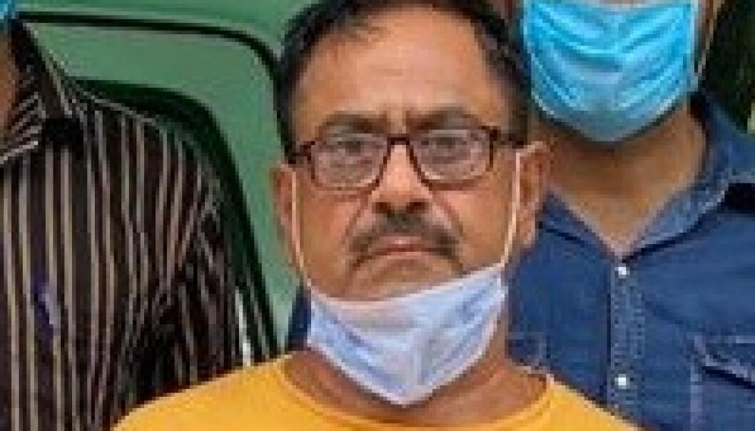 PÅGREPET: Devender Sharma er pågrepet igjen etter et halvt år på rømmen. Foto: Dehli Police