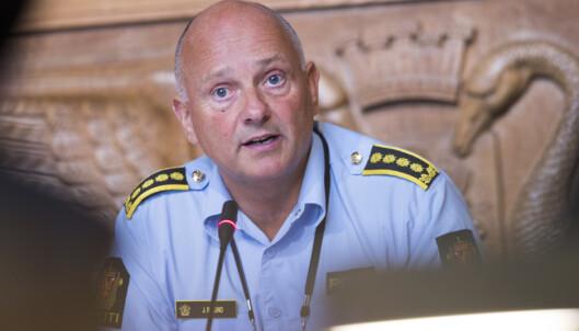 Leder av politiet øst Oslo Jon Roger Lund under høring om ungdomskriminalitet i Oslo Rådhus. Foto: Terje Pedersen / NTB scanpix