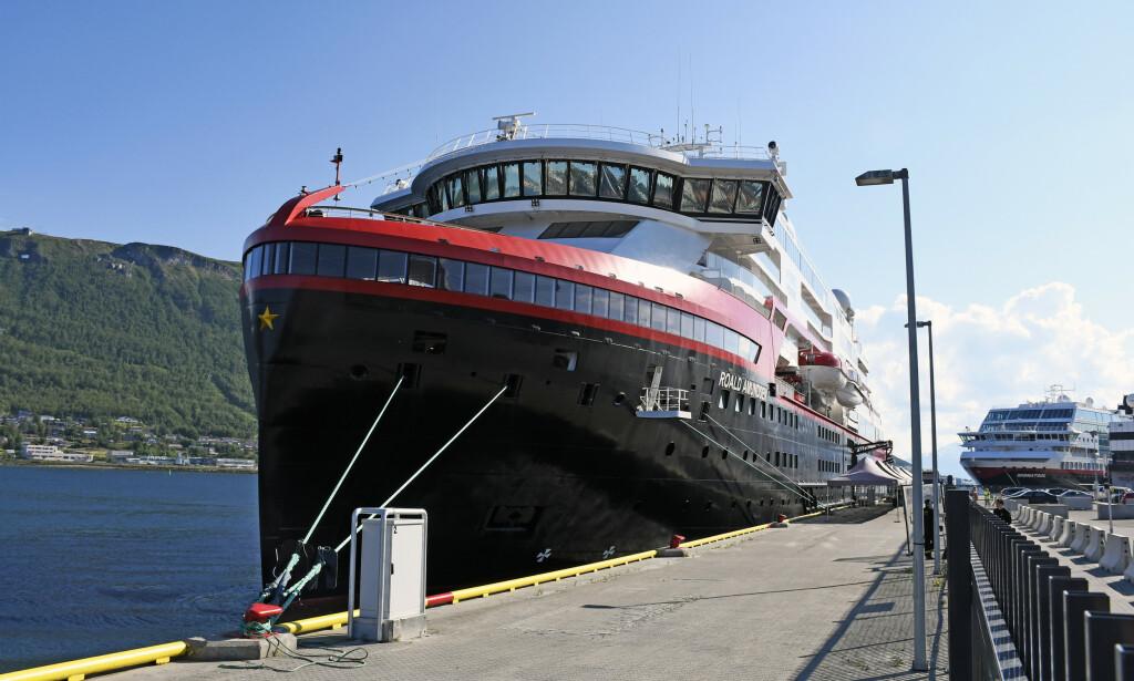 SMITTE: Fire ansatte på Hurtigruten har fått påvist coronacviruset. Foto: Rune Stoltz Bertinussen / NTB scanpix