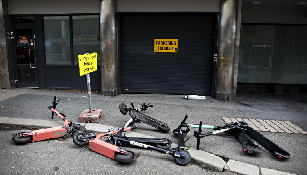 HVERDAGEN: Blinde, svaksynte og dem som bruker rullestol har en utfordrende hverdag i Oslo om dagen. Bildet ble tatt før helgen.Foto: Frank Karlsen / Dagbladet