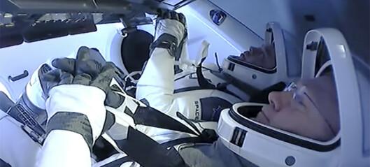 Amerikanske astronauter tilbake på jorden