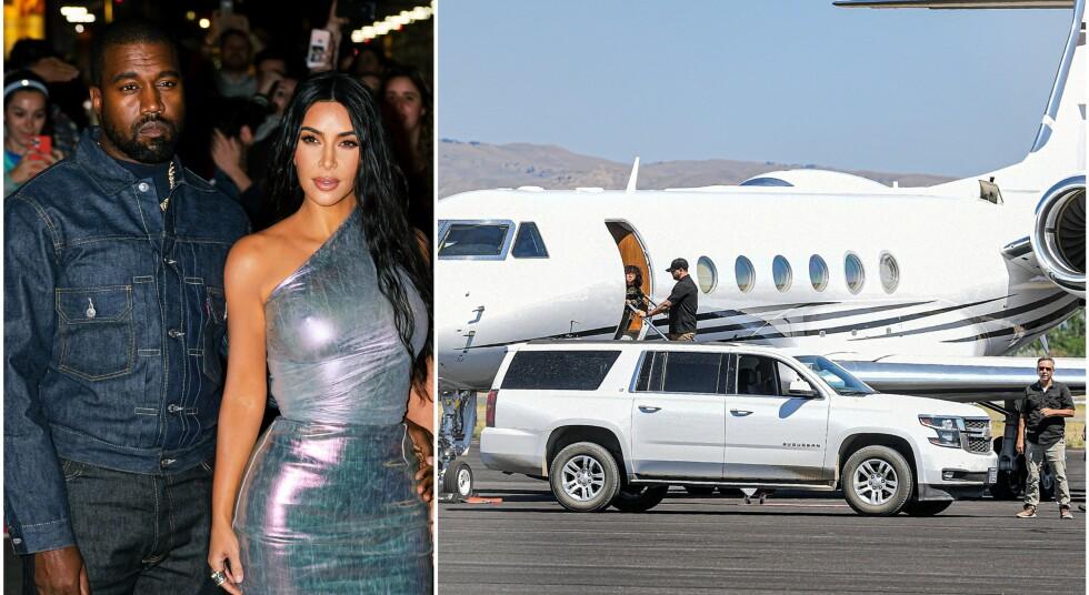 <strong>NYE BILDER:</strong> Det er ingen hemmelighet at det har stormet rundt Kanye West og Kim Kardashian West den siste tiden. Nå skaper nye bilder av førstnevnte og parets ene sønn full forvirring. Foto: NTB Scanpix