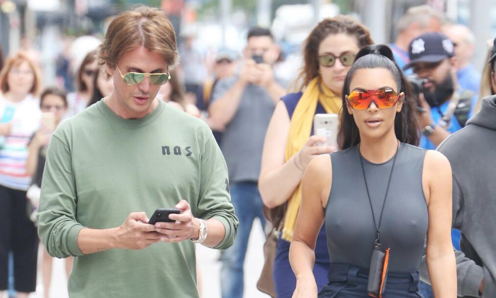 <strong>RANET:</strong> Kim Kardashians bestevenn, Jonathan Cheban, ble denne helga ranet i New Jersey. Skurkene truet ham til å gi fra seg en klokke, til en verdi av to millioner kroner. Foto: NTB Scanpix