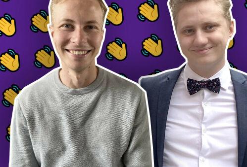 image: Martin (22) og Dennis (24) skal jobbe hos Increo - mens de studerer