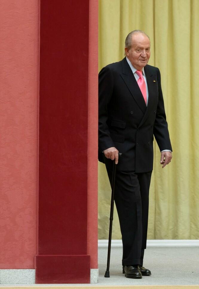 <strong>SKAPER SPLID:</strong> Juan Carlos har ikke fortalt hvor han har reist. Beskjeden om exiten kom bare en måneds tid etter at han ble trukket inn i en kontroversiell sak. Foto: NTB Scanpix
