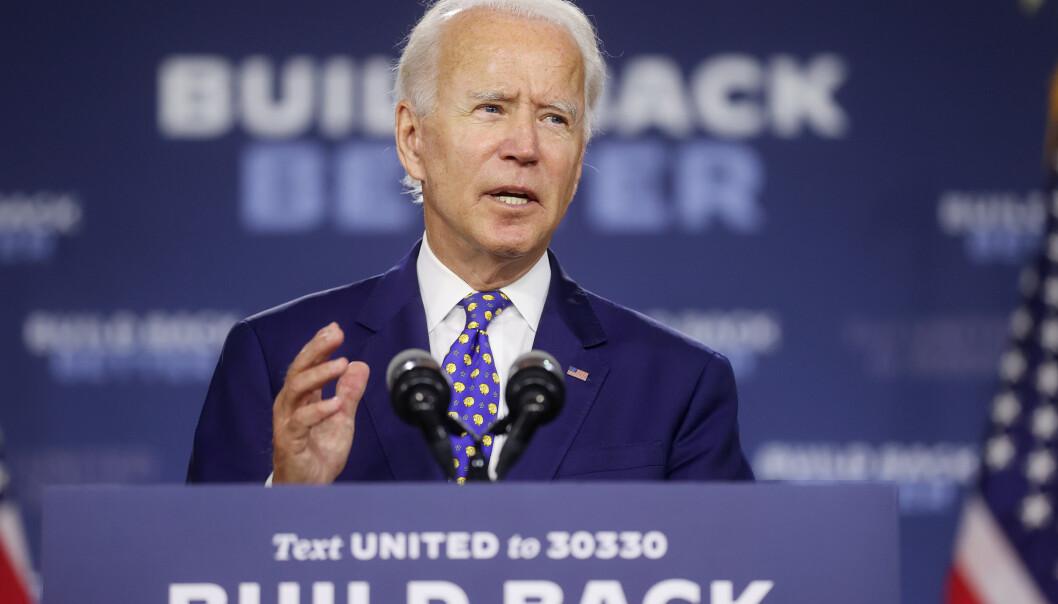 <strong>RIVALEN:</strong> Demokratenes kandidat, Joe Biden. Foto: REUTERS/Jonathan Ernst