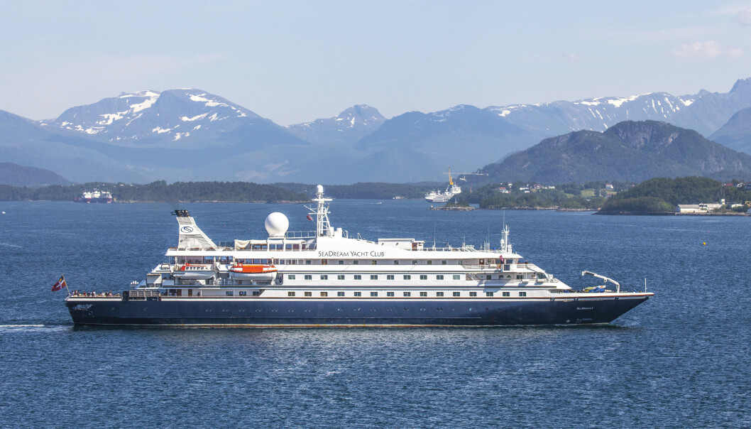 <strong>CRUISE:</strong> Cruiseskipet SeaDream 1 har lagt til kai I Bodø. Foto: Halvard Alvik / NTB scanpix.