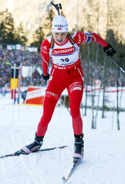 <strong>VIL DELTA:</strong> Gunn Margit Andreassen har tidligere takket nei til å delta i NRK-suksessen, men håper muligheten byr seg igjen. Her i Ruhpolding i 2008. Foto: NTB Scanpix